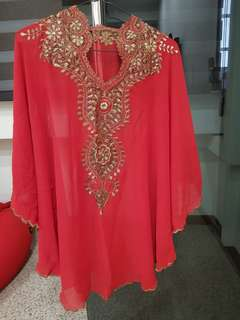 Red Batwing Embroidery