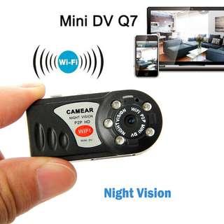 Q7 WiFi HD IP Camera Mini DVR Night Vision SpyCCTV