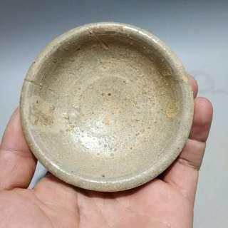 東晉茶盞 寬9.5cm 高3.5cm 完整 古樸 文物 收藏