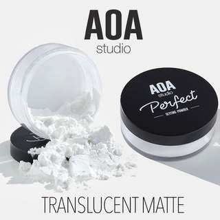 🆕Translucent Matte Setting Loose No Flash Face Powder US Cruelty-free Cosmetic Makeup AOA Studio