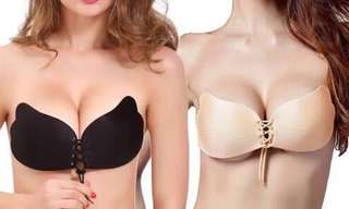 Self adhesive push up bra Size: Cup A, Cup B, Cup C