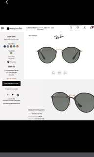 BRAND NEW AUTHENTIC Ray Ban Polarised Sunglasses blaze round