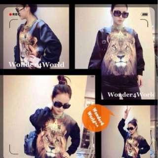 Korean Lion Fashion Top/ Pullover/ Long Sleeve/ Lace  Last Piece!!