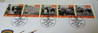 GB UK England D-Day Stamps & Special Postmark #2