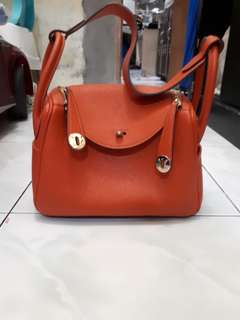 Hermes lindy petite clemence leather size 21×11×16cm