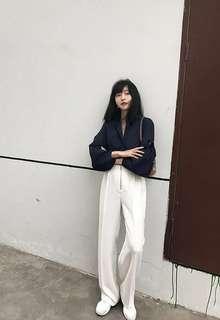 Cass Shop zipper trousers in white in size S