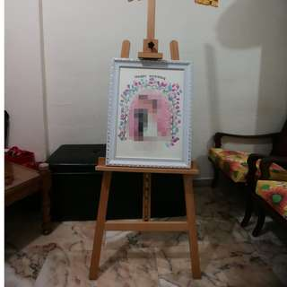 Easel Stand Display (Solid Wood) for Rent [Wedding Props / Event Props]