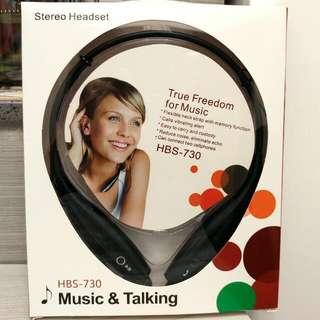 全新Stereo掛頸式無線藍牙耳機(可高清通話/聽MP3/聽歌) Brand New Stereo Neck Chain Type Wireless Bluetooth Headset(can be High-Definition Call/listen to MP3 /Steoero Song)