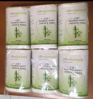 Brand New Bamboo Liners & Wipes