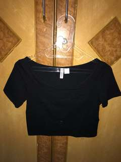 H&m crop top black