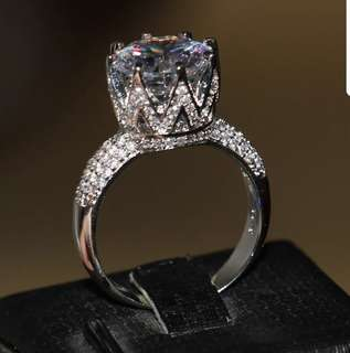 P2mart✌✔Pre order stock ✔Solitaire 10Ct Gem 5A Zircon stone 925 Sterling silver