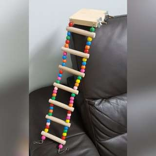 Bird parrot ladder staircase toy with platform