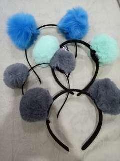 Pompoms headbands (take all)
