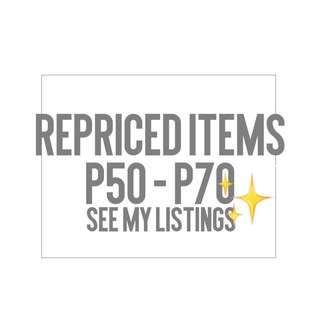 REPRICED ITEMS ‼️
