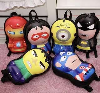Marvel superheroes + Minion Mini 3D backpack for kids