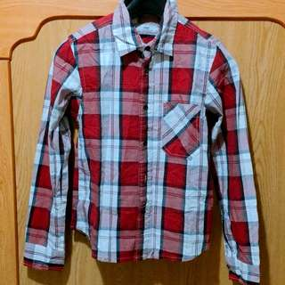 Celio 紅白格紋襯衫上衣
