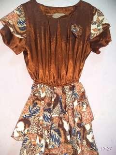 Dress batik dan rajut