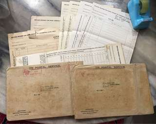 Vintage 1955 EPF Documents