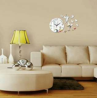 🍀Quartz Acrylic Modern Design Luxury 3D Mirror Wall Clock🍀