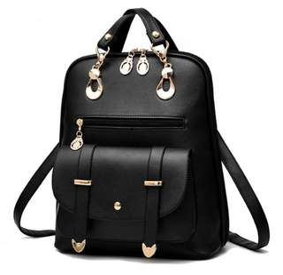 Korean Style 2- Way Backpack Sling Bag
