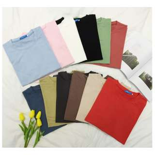 Basic Colour Tee   Casual Style   12 Colours