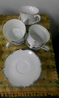 "Fine China ""Majesty""  x 6 cups and saucers"