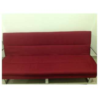 Red Contemporary Sofa Sleeper