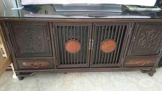 雞翅木電視櫃 地櫃