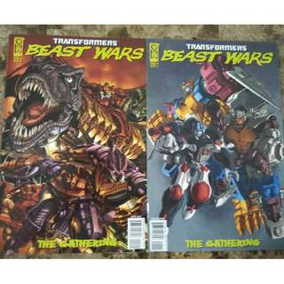 TRANSFORMERS : BEAST WARS - THE GATHERING #1 & 2 (IDW 2006)