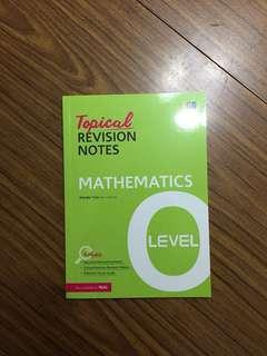 O Level Topical Mathematics Revision Notes