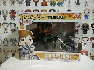Funko Pop Ride Daryl Dixon Chopper Vinyl Figure Collectible Toy Gift Walking Dead TV Drama Series