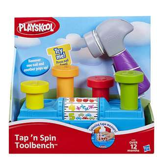 Hasbro Playskool Tap'N Spin Toolbench Toy_Infant & Kids