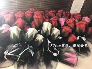 70cm LED Big Rose