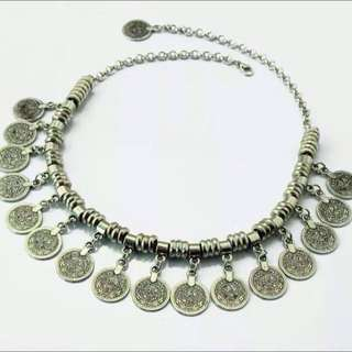 Gypsy Silver Plated Necklace