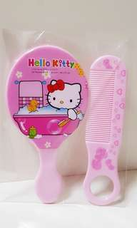 Hello kitty mirror and comb