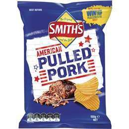 Smith's American Pulled Pork Chips 150g