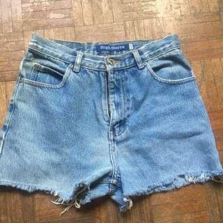 Demin frayed Highwaisted shorts