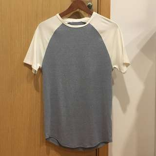 River Island Muscle Fit T-Shirt (greyish blue)