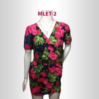 Womens Overlap Short Dress