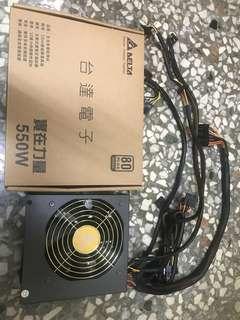 台達 550w 銅牌 80+ PLUS  實在力量