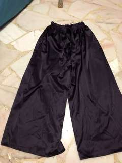 Dark Purple Satin Long Pants