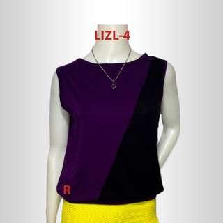 Sleeveless Purple Black Top