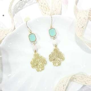• Lovely Lace • Handmade Earrings • Dangling