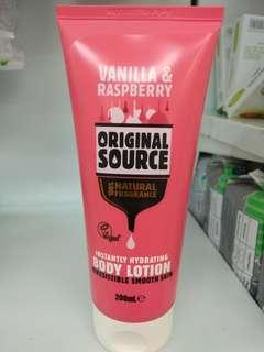 Original Source Body Lotion Vanilla n Raspberry
