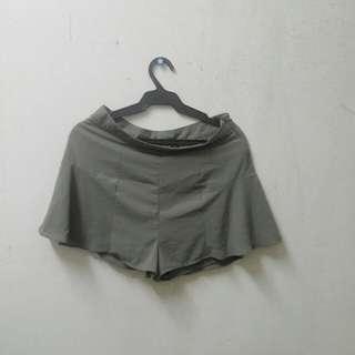 Olive Green Skirt/Shorts