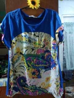 Plus size Blouse (Blue)