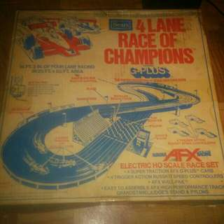 Sears exclusive 4 lane racing set