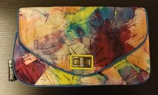 Aldo 小手袋 clutch artist paint bag 藝術 水墨畫
