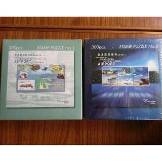 珍藏香港郵政局 啟德機場 及 香港機場 300 PCS PUZZLE 各一盒