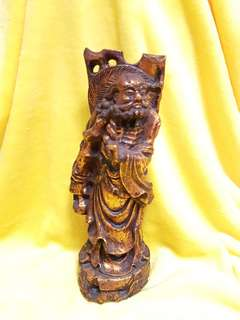 Antique wood carving - The dharma patriarch 达摩祖师 -